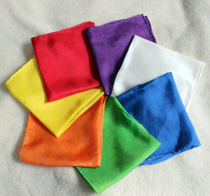 Set of 7 Waldorf Color Of The Day Playsilks