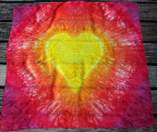 Load image into Gallery viewer, Sunshine/Fire Tie Dye Heart Playsilk