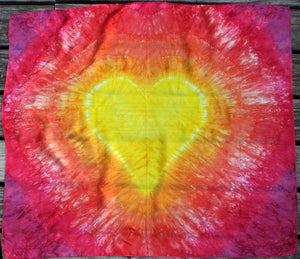 Sunshine/Fire Tie Dye Heart Playsilk