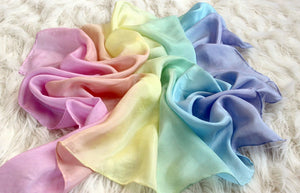 Striped Playsilk Pastel Rainbow ~ Ombré