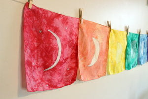 Rainbow Moon Phase Banner Playsilk