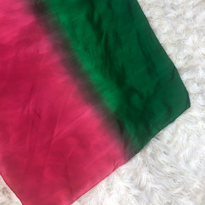 *NEW*  Holiday Ombré Red Green Playsilk Scarf