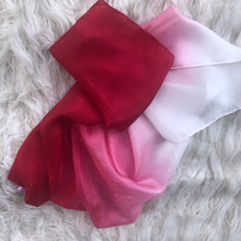 Load image into Gallery viewer, *NEW*  Holiday Ombré Red White Playsilk Scarf