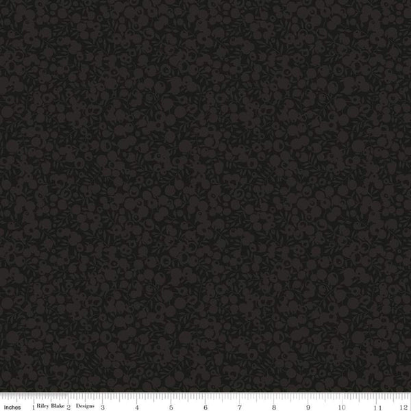 Liberty Fabrics Quilting Cotton: Wiltshire Shadow Black