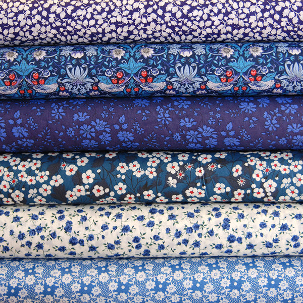 Liberty Tana Lawn: Blue Stash Pack