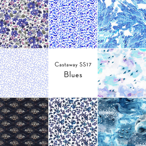 Castaway Collection: Fat Quarter Bundle in Blue