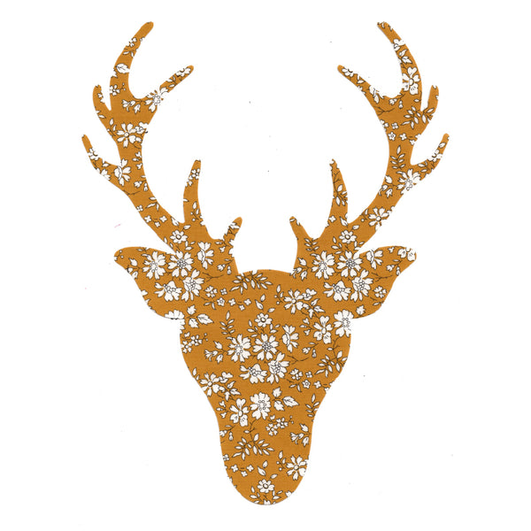 Liberty of London Die Cut: Large Stag Head: Capel Mustard