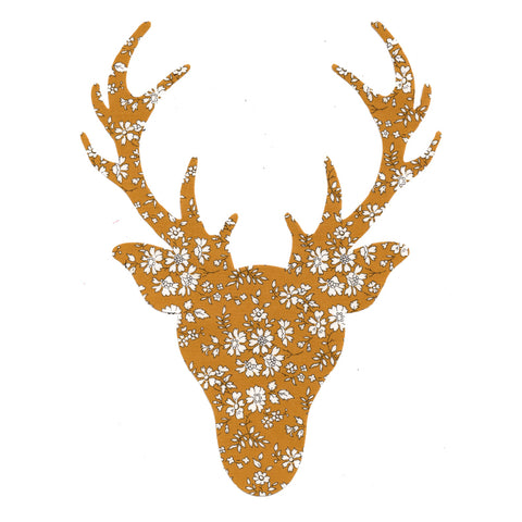 Die Cut: Large Stag Head: Capel Mustard