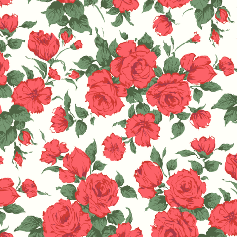 London Tana Lawn: Carline Rose (A)