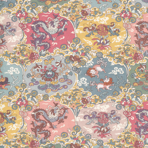 Liberty Fabrics Tana Lawn: Dog Dragon (A)