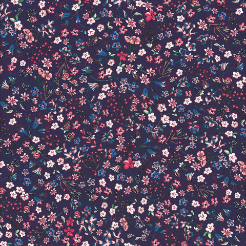 Liberty Fabrics Tana Lawn: Donna Leigh Purple (C)