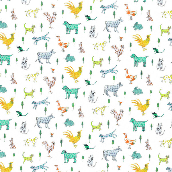 Liberty of London Tana Lawn: Farmyard Tails (B)
