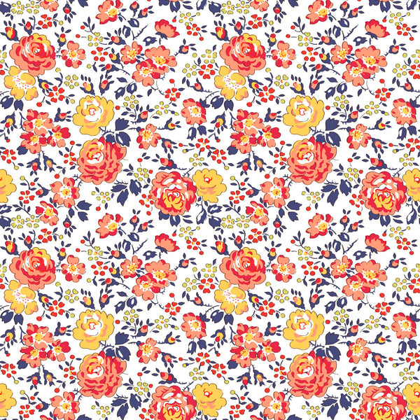Liberty of London Tana Lawn: Felicite Orange (A)