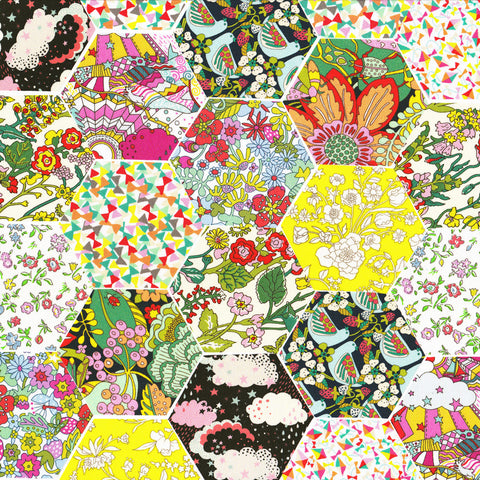 "1-1/4"" Hexagons: A Garden of Dreams"