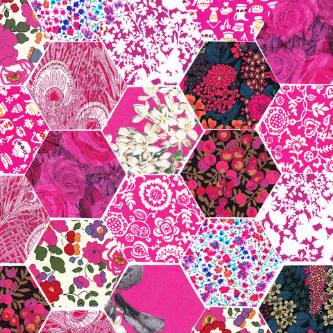 "1-1/4"" Hexagons: Magenta"