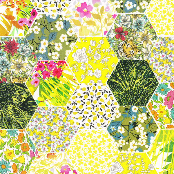 "1-1/4"" Hexagons: Chartreuse"