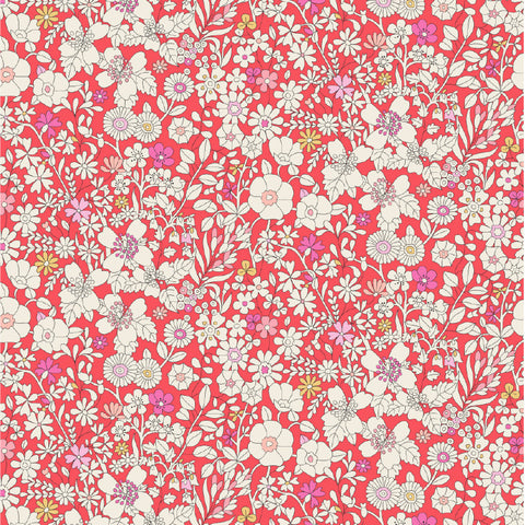Liberty Fabrics Tana Lawn: June's Meadow Coral