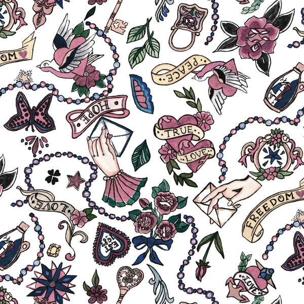 Liberty of London Tana Lawn: Love Letters (C)