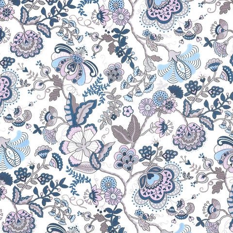 Liberty of London Tana Lawn: Mabelle Blue/Grey (N)