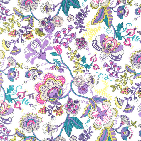 Liberty of London Tana Lawn: Mabelle Purple/Yellow (L)