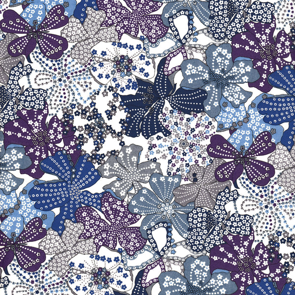 Liberty of London Tana Lawn: Mauvey Blue/Purple (B)
