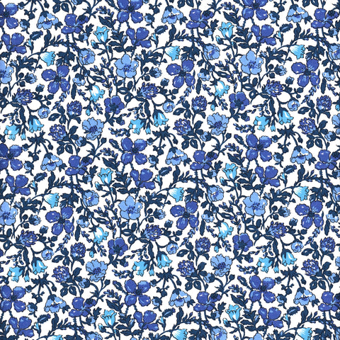 Liberty Fabrics Tana Lawn: Meadow Blue (A)