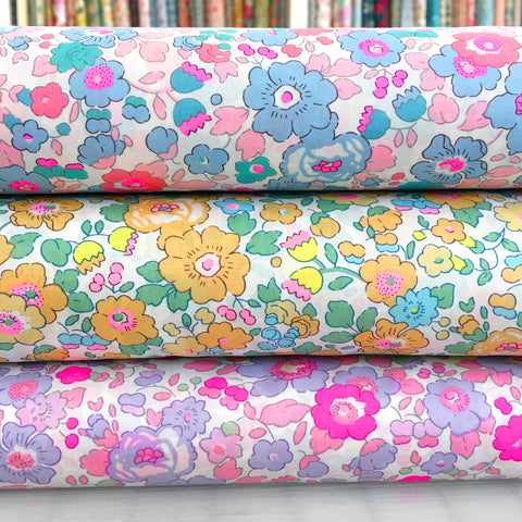 Liberty Tana Lawn: Neon Betsy Fat Quarters