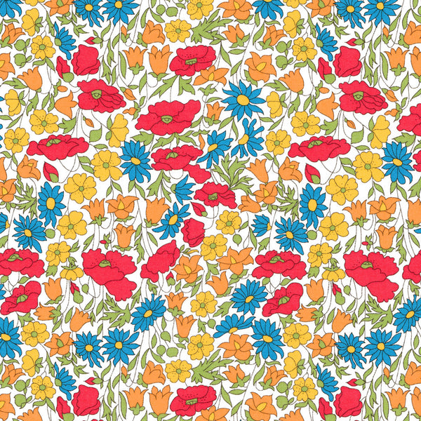 Liberty Fabrics Tana Lawn: Poppy and Daisy (M)