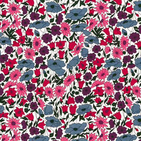 Liberty Fabrics Tana Lawn: Poppy and Daisy (P)