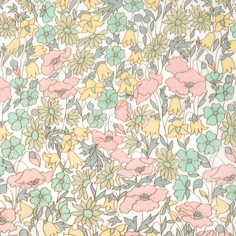 Liberty Fabrics Tana Lawn: Poppy and Daisy Pastels (B)