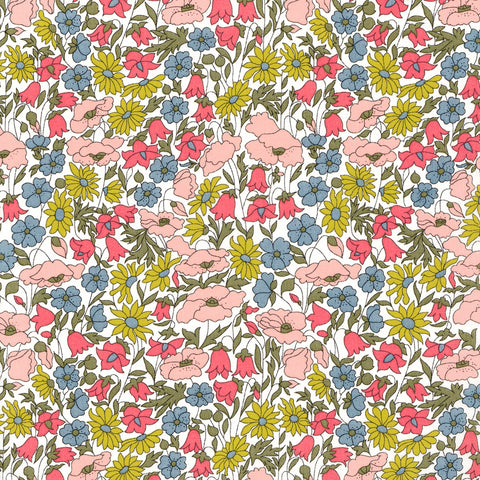 Liberty Fabrics Tana Lawn: Poppy and Daisy A-40
