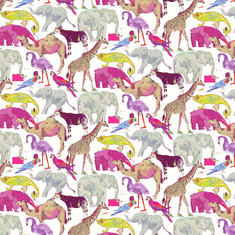 Liberty Fabrics Tana Lawn: Queue for the Zoo (A)