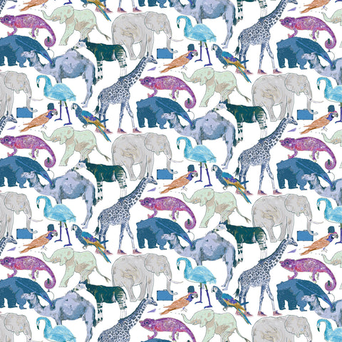 Liberty Fabrics Tana Lawn: Queue for the Zoo (G)