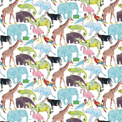 Liberty Fabrics Tana Lawn: Queue for the Zoo (F)