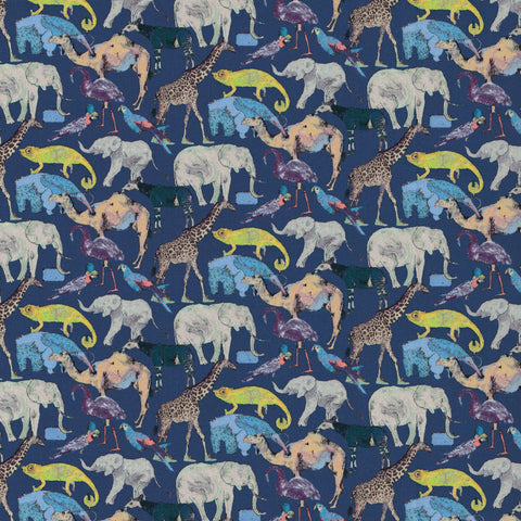 Liberty Fabrics Tana Lawn: Queue for the Zoo (H)