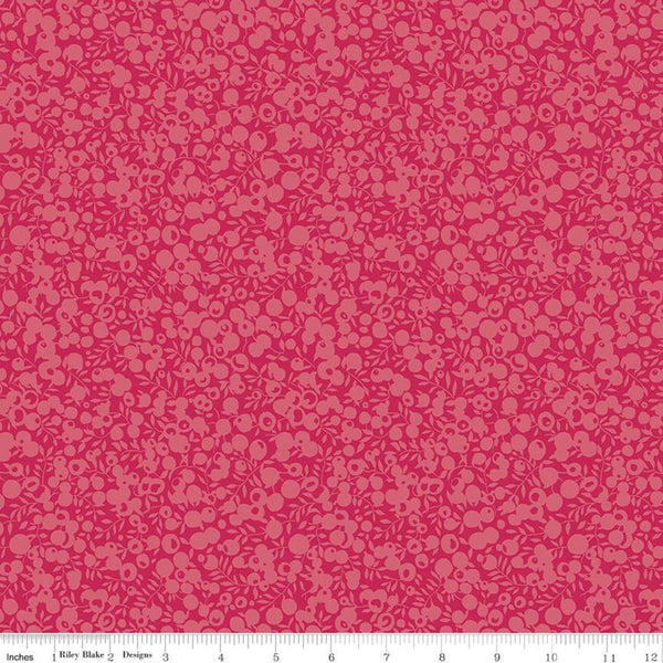Liberty Fabrics Quilting Cotton: Wiltshire Shadow Raspberry
