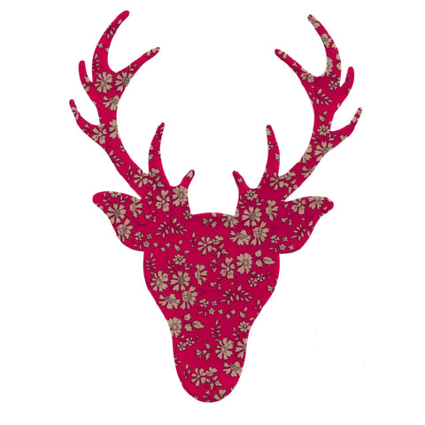 Liberty of London Die Cut: Large Stag Head: Capel Red