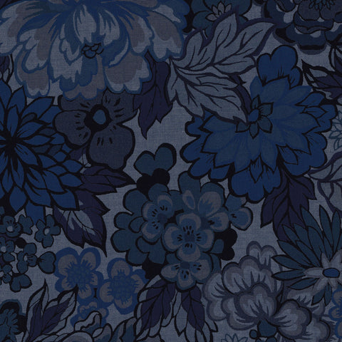 Liberty Colombo Chambray: Royal Peony (B)