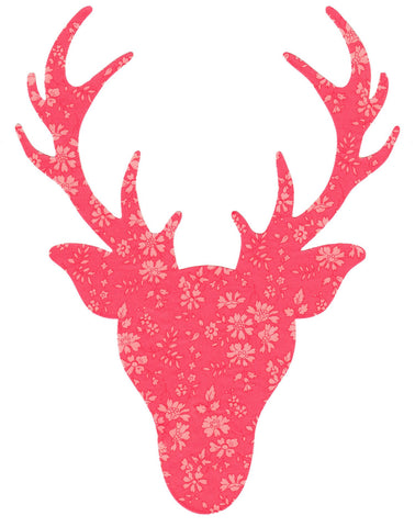 Liberty of London Die Cut: Large Stag Head: Capel Coral