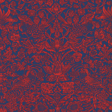 Liberty Fabrics Tana Lawn: Strawberry Meadow (B)