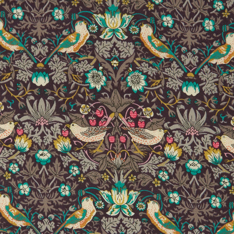 Liberty of London Tana Lawn: Strawberry Thief Brown/Turquoise (K)