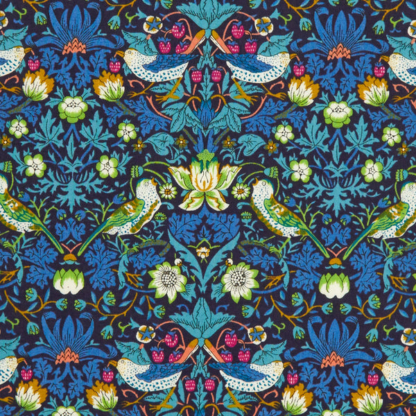 Liberty of London Tana Lawn: Strawberry Thief Blue/Green (J)