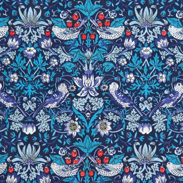 Liberty of London Tana Lawn: Strawberry Thief Navy (M)