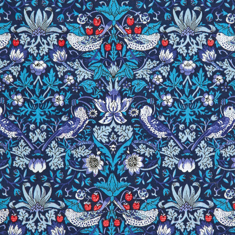Liberty Fabrics Tana Lawn: Strawberry Thief Navy (M)
