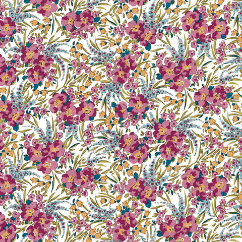 London Tana Lawn: Swirling Petals (B)