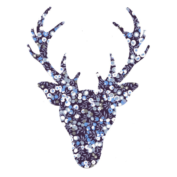Liberty of London Die Cut: Large Stag Head: Wiltshire Blue