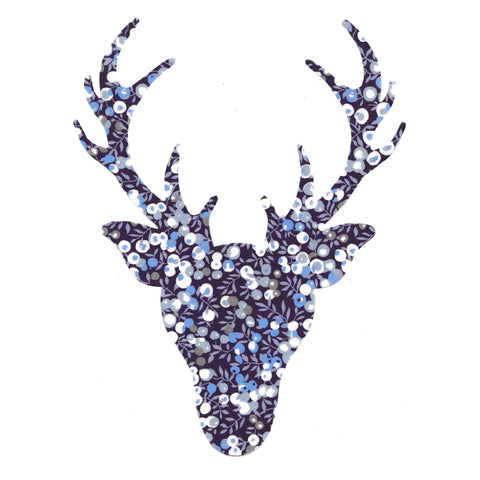 Die Cut: Large Stag Head: Wiltshire Blue
