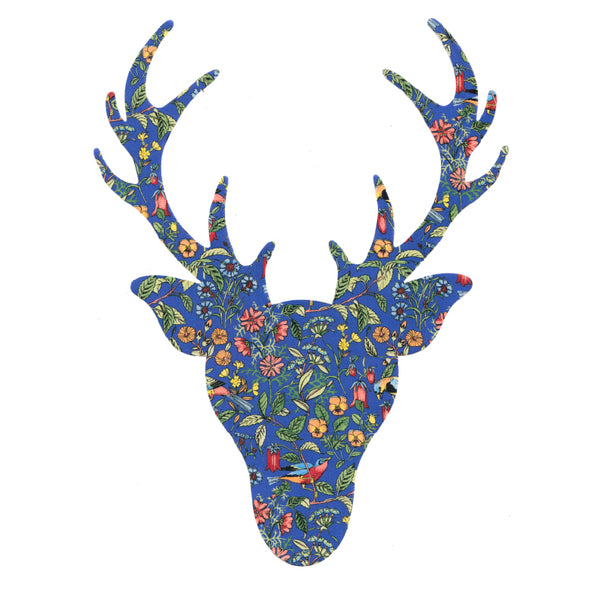 Die Cut: Large Stag Head: Catesby Blue