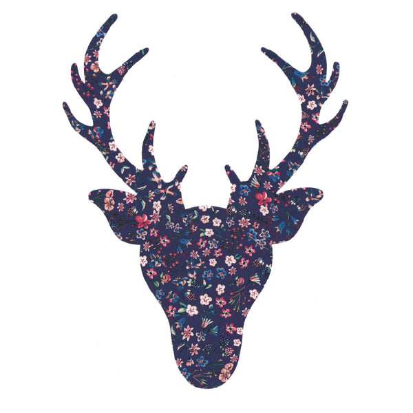 Liberty of London Die Cut: Large Stag Head: Donna Leigh Purple