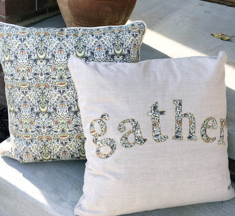 "Die-Cut Fusible Letters: ""Gather"""